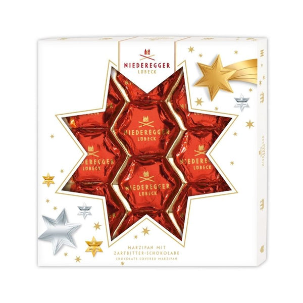 Niederegger Marzipan Christmas Stars - Chocolate & More Delights