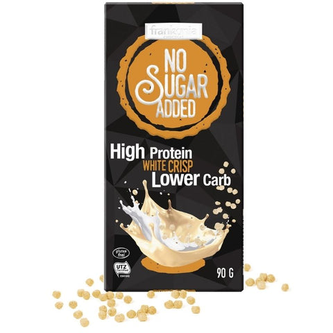 No Sugar Added High Protein White Chocolate Crisp - Chocolate & More Delights