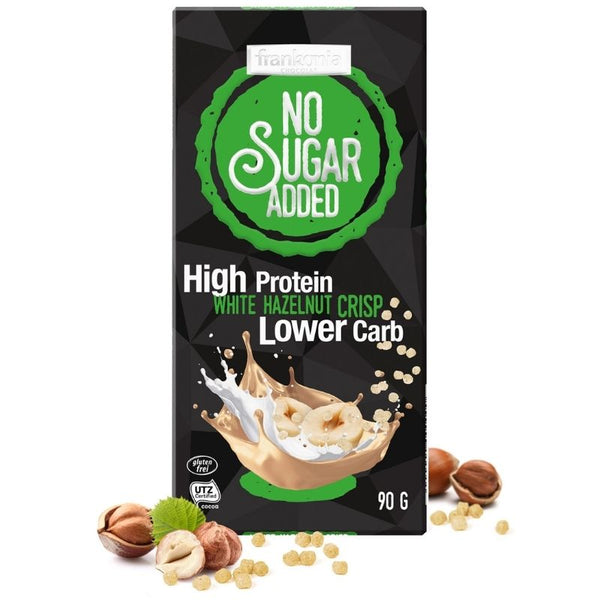No Sugar Added High Protein White Chocolate Hazelnut Crisp - Chocolate & More Delights