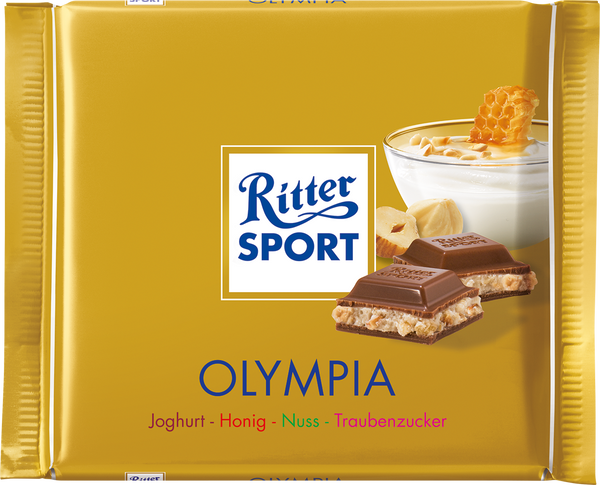 Ritter Sport - Olympia Honey & Yogurt-Chocolate Bar-Chocolate & More Delights
