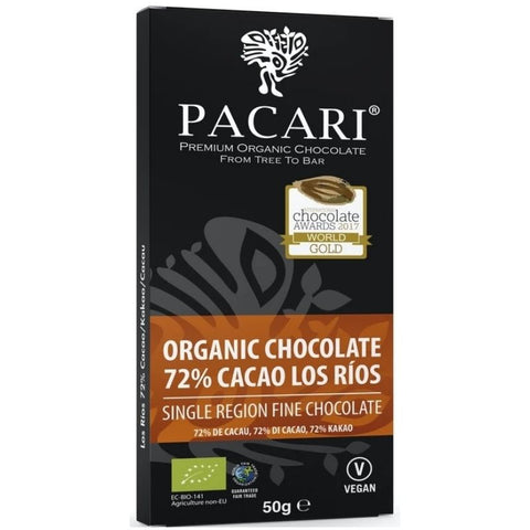 Pacari Organic Single Origin Dark Chocolate Los Rios 72% - Chocolate & More Delights