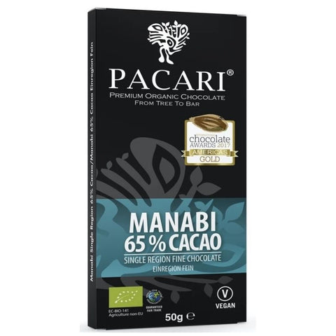 Pacari Organic Single Origin Dark Chocolate Manabi 65% - Chocolate & More Delights