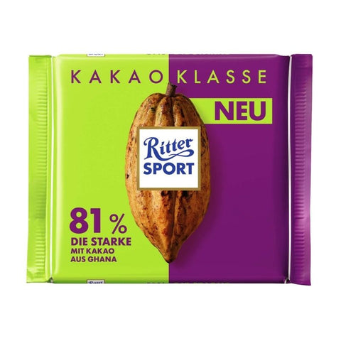 Ritter Sport Single Origin Chocolate Ghana 81% - Chocolate & More Delights