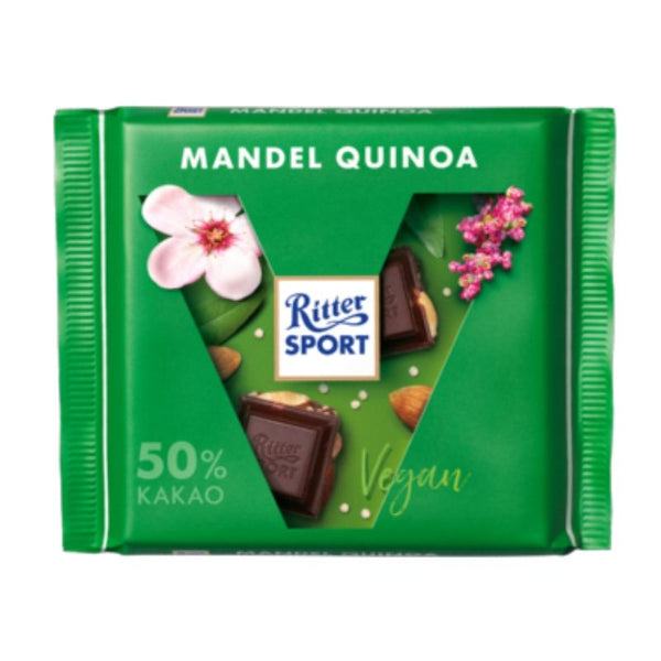 Vegan Chocolate Ritter Sport Almond Quinoa - Chocolate & More Delights