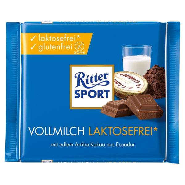 Ritter Sport - Milk Chocolate Lactose Free - Chocolate & More Delights