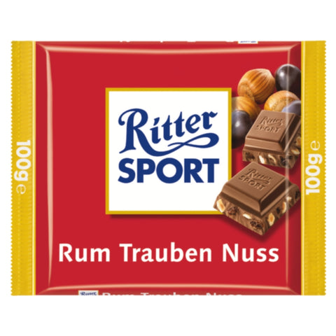 Ritter Sport Chocolate Jamaica Rum & Raisins - Chocolate & More Delights
