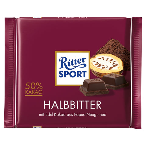 Ritter Sport - Dark Chocolate 50 % - Chocolate & More Delights