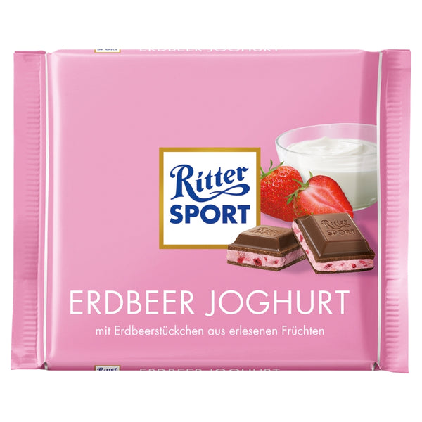 Ritter Sport Strawberry Yogurt - Chocolate & More Delights