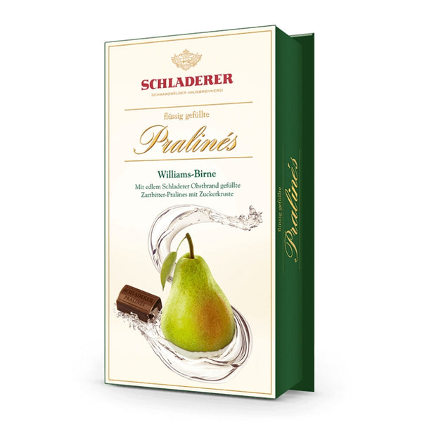 Schladerer Liquor Filled Pralines Williams Pear Brandy - Chocolate & More Delights