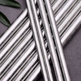 Stainless Steel Cocktail Straws Crack Pattern - Silver - Chocolate & More Delights