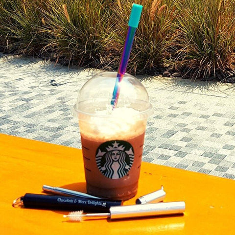 Stainless Steel Collapsible Straw with Starbucks - Chocolate & More Delights