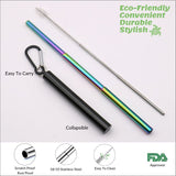 Stainless Steel Rainbow Straw - Black - Chocolate & More Delights