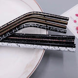 Stainless Steel Cocktail Straws Crack Pattern - Chocolate & More Delights