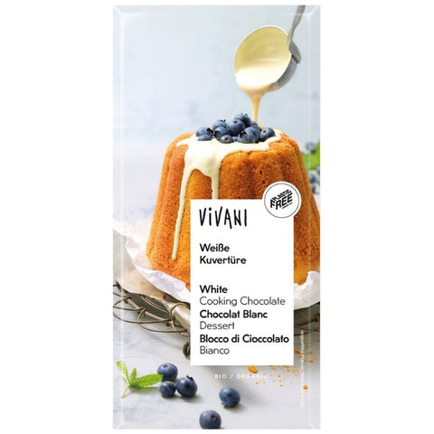 Vivani Organic White Couverture Chocolate - Chocolate & More Delights