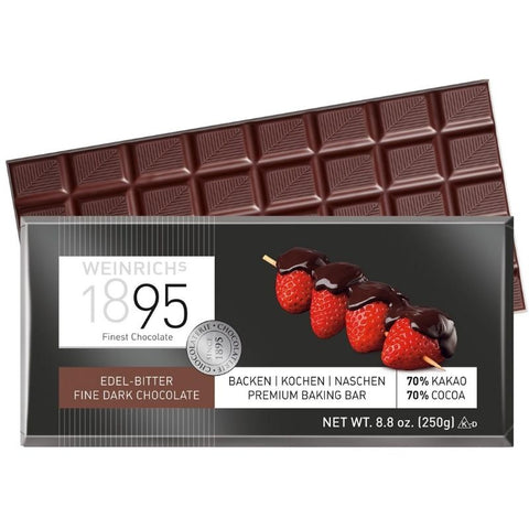 Weinrich Dark Baking Chocolate - Chocolate & More Delights