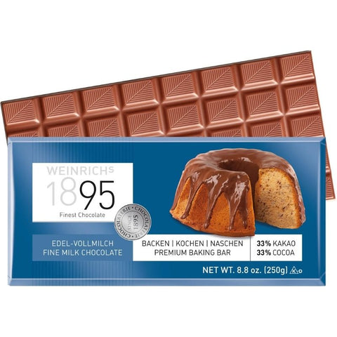 Weinrich Whole Milk Baking Chocolate - Chocolate & More Delights