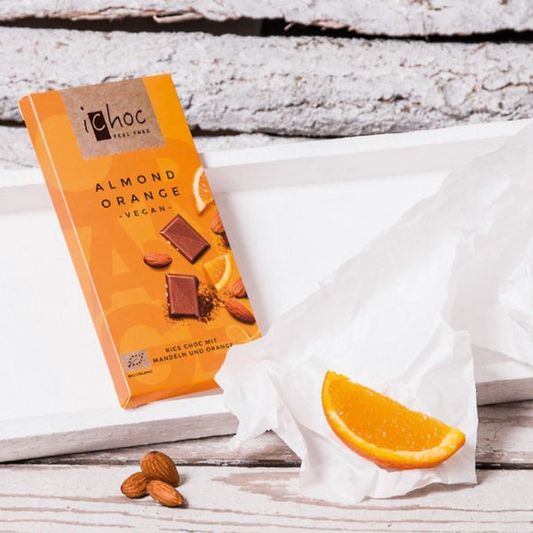 iChoc Vegan Chocolate Almond Orange - Chocolate & More Delights