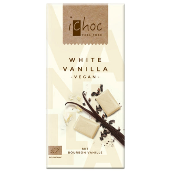 iChoc Vegan Chocolate White Vanilla - Chocolate & More Delights