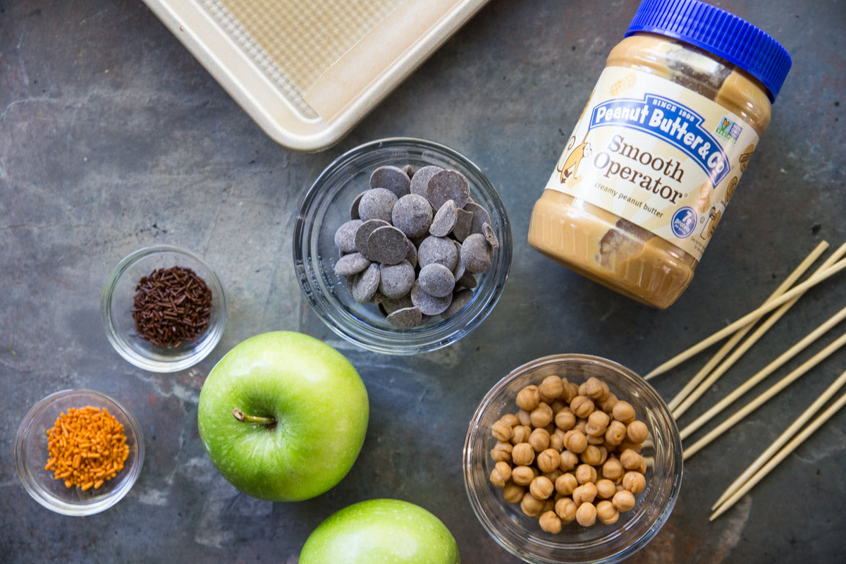 peanut butter candy apple slices - ingredients