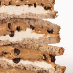 cookie dough sandwich closeup