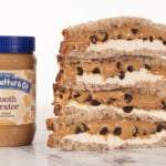 cookie dough sandwich with jar