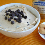 Peanut Butter Tagalong Party Dip finished with cookies & jar