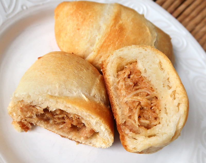 thai peanut chicken crescent rolls cross section