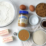 Brown Butter Peanut Butter Cookies Ingredients