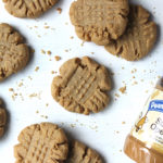 Brown Butter Peanut Butter Cookies finished
