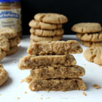 Brown Butter Peanut Butter Cookies stacked