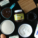 Chocolate Hazelnut S'mores Brownies Ingredients