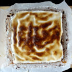 Chocolate Hazelnut S'mores Brownies out of oven