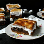Chocolate Hazelnut S'mores Brownies finished
