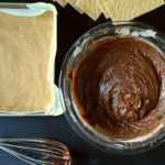 Chocolate Hazelnut S'mores Brownies step 1