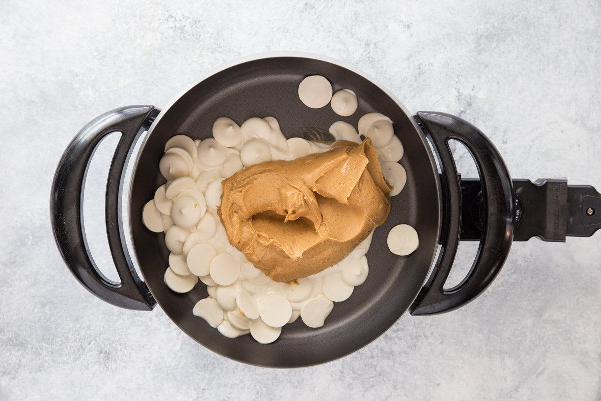 3 Ingredient White Chocolate Peanut Butter Fondue Step 2