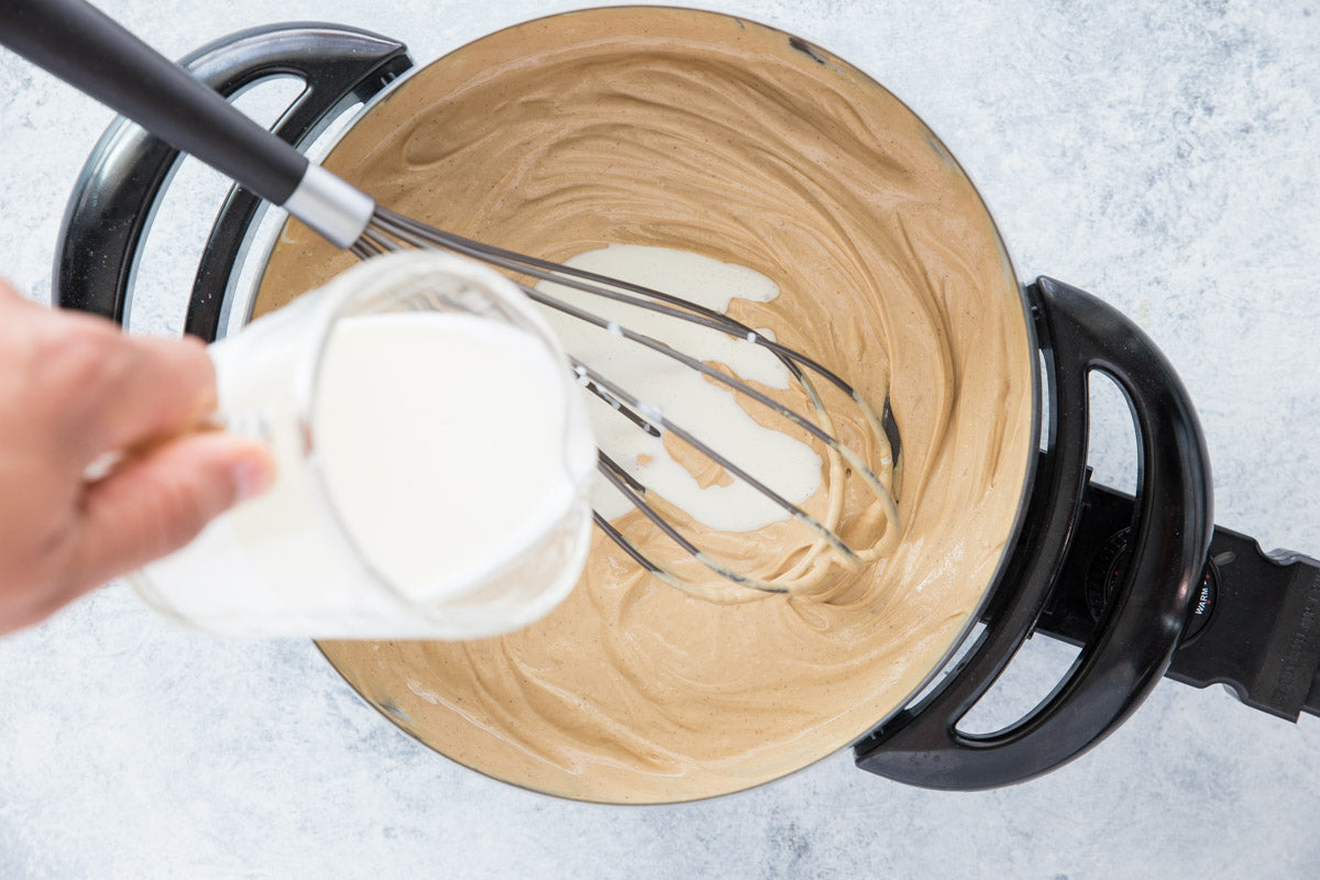 3 Ingredient White Chocolate Peanut Butter Fondue Step 3