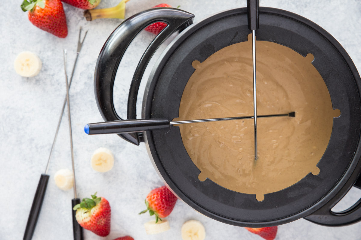 3 Ingredient White Chocolate Peanut Butter Fondue Finished