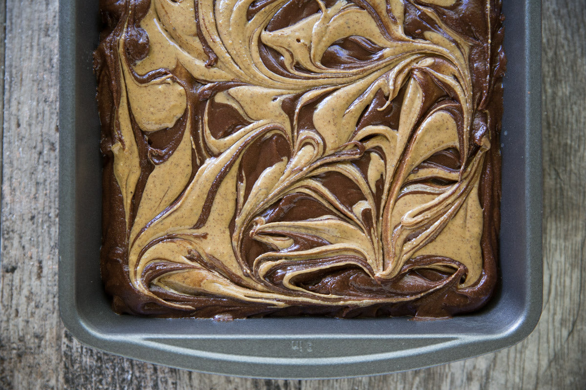 Almond & Cashew Butter Swirled Brownies Step 4