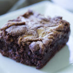 Almond & Cashew Butter Swirled Brownies Finished