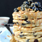 Almond and Cashew Butter Blueberry Pancakes Finished 2