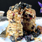 Almond and Cashew Butter Blueberry Pancakes Finished Cut