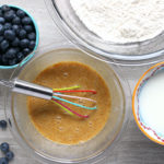 Almond and Cashew Butter Blueberry Pancakes Step 1