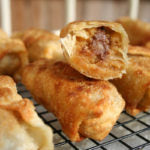 Peanut Butter Chocolate Chip Cookie Dough Egg Rolls Finished 2