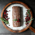 White Chocolate Wonderful Peanut Butter Yule Log Cake Finished