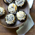 Five-Ingredient Puff Pastry Chocolate Hazelnut Muffins with Vanilla Bean Glaze