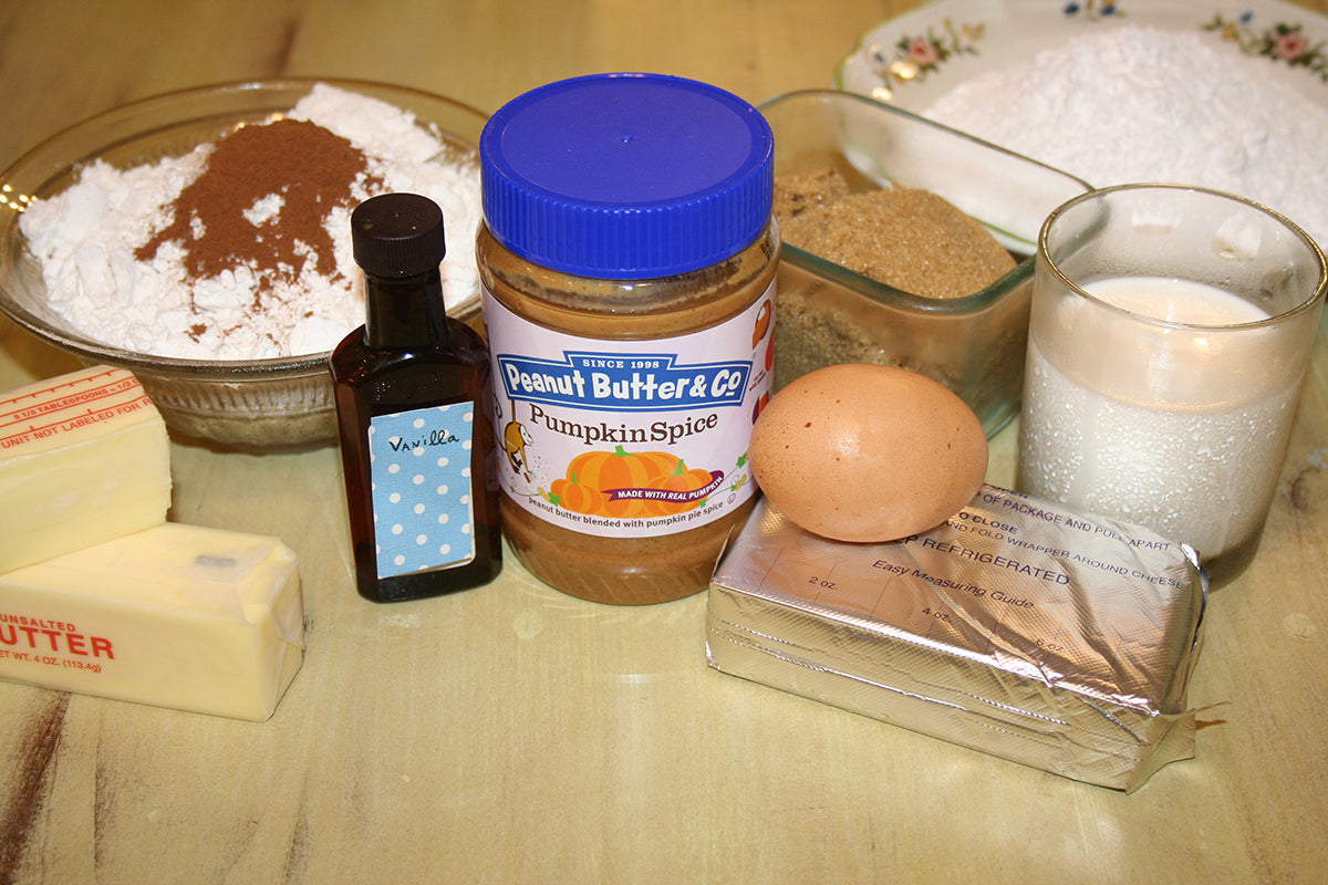 Pumpkin Spice Peanut Butter Latte Cupcakes Ingredients - Peanut Butter & Co. Pumpkin Spice peanut butter