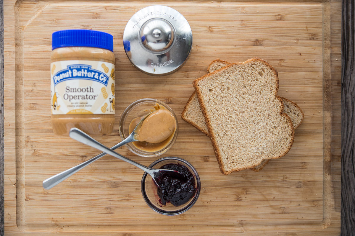 Peanut Butter & Jam Crustless Sandwich Ingredients