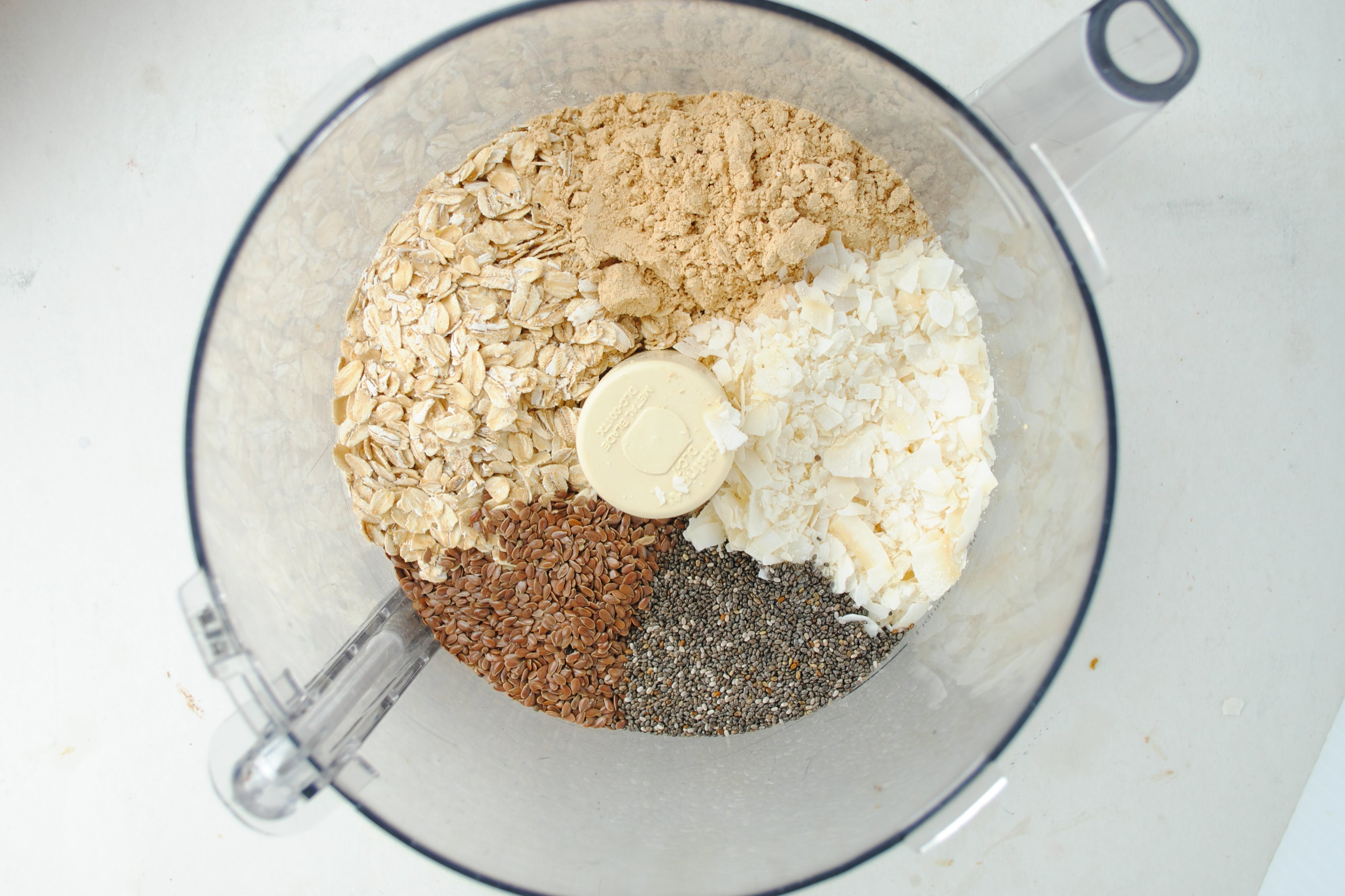 Peanut Butter Coconut Energy Balls Ingredients - Mighty Nut Flax & Chia powdered peanut butter