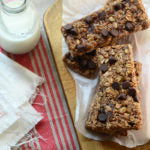 Double Chocolate Peanut Butter Granola Bars