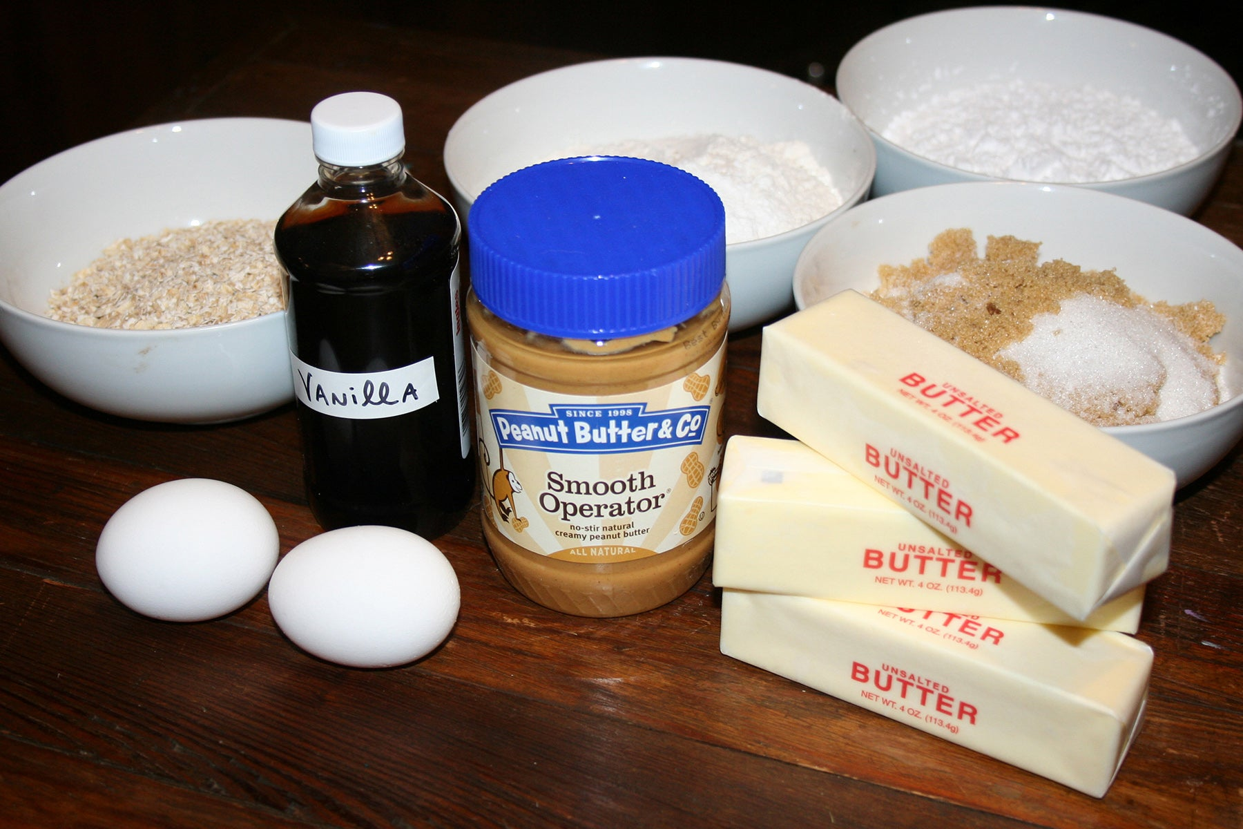Homemade Girl Scout Cookies: Smooth Operator Do-Si-Dos® Ingredients - Peanut Butter & Co. Smooth Operator peanut butter
